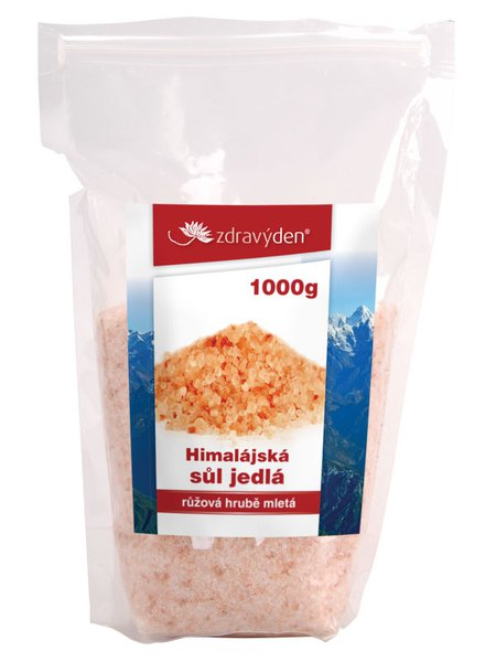 Sůl himalájská jedlá růžová hrubě mletá 1000g