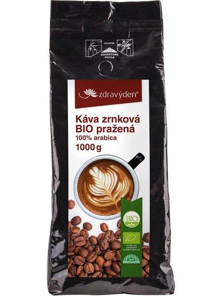Káva zrnková BIO pražená 1000g