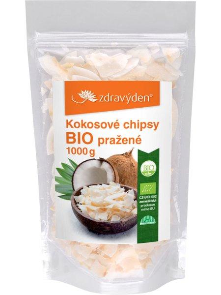 Kokosové chipsy pražené BIO 1000g